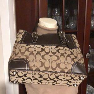 AUTH.COACH SMALL Carry Handbag/Shoulder Bag!